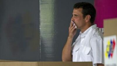 El candidato opositor a la Presidencia de Venezuela, Henrique Capriles.