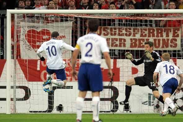 Wayne Rooney había sorprendio a los alemanes con un gol tempranero.
