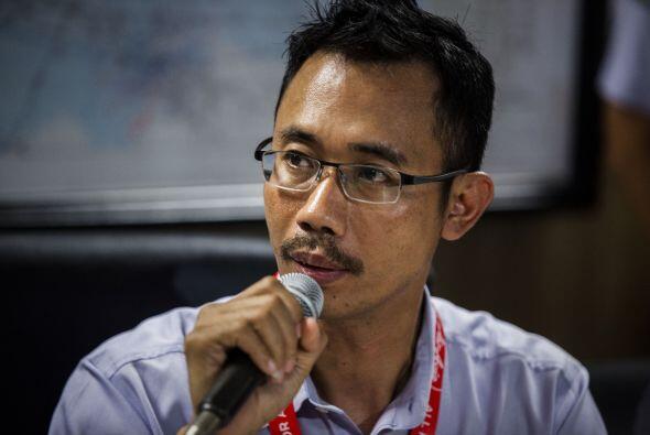 Sunu Widyatmoko, CEO de AirAsia en Indonesia, en conferencia de prensa e...