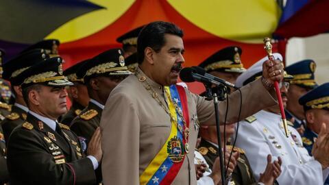 Nicolás Maduro enfrentó protestas sociales contra su gobie...