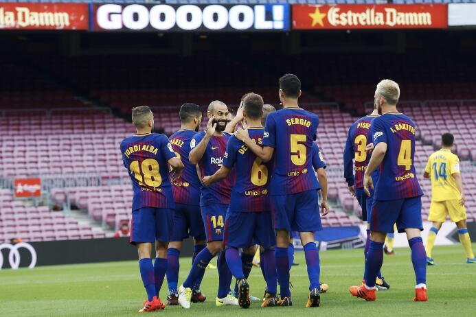 El Barça goleó a Las Palmas, en un Camp Nou sin público 6364247605998829...