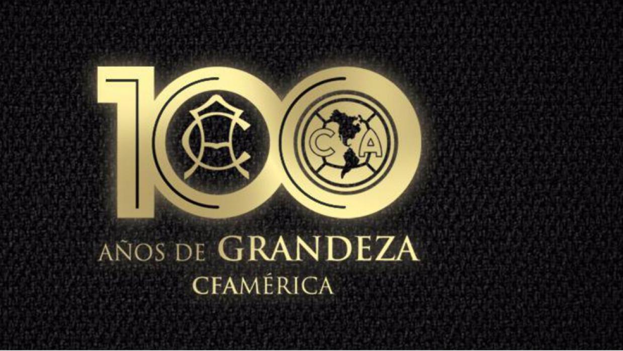 Logo del centenario del Club América.