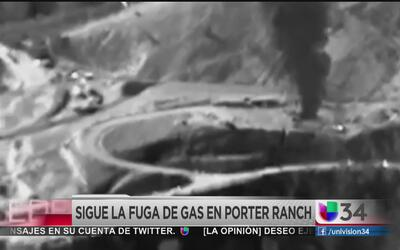 Sigue la fuga de gas en Porter Ranch
