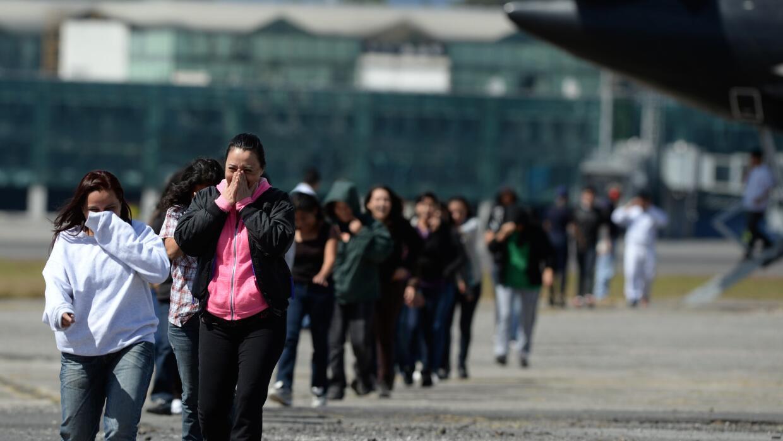 Centroamericanos deportados de Estados Unidos