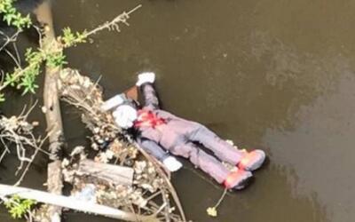 Imagen del cuerpo divisado por guardia de seguridad que llamó al...