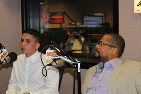 Eliecer y Alexis durante la entrevista con Haza.