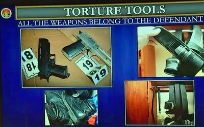 Las herramientas de tortura. Imágenes presentadas en el juicio co...