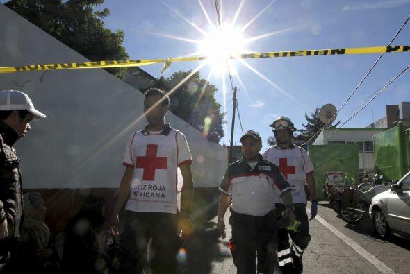 La Cruz Roja participa en las labores de rescate de los heridos por la c...