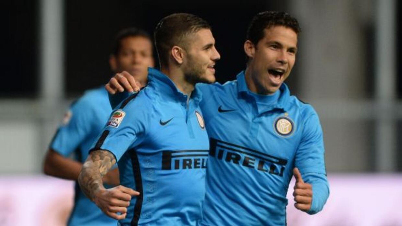 Icardi y Podolski marcaron los goles del triunfo del equipo nerazzurro.
