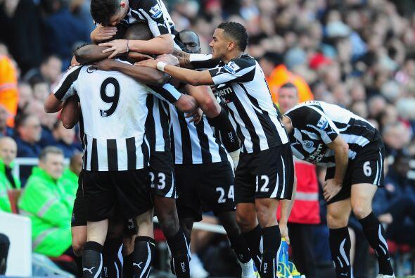 Ese gol del delantero de Newcastle llegó justo antes del medio tiempo.