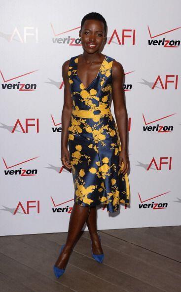 En los AFI Awards este vestido Carolina Herrera proporcionó aún más bril...
