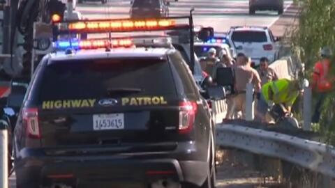 Escena del accidente en el que perdieron la vida tres personas en San Di...