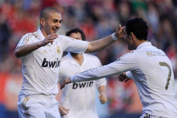 El delantero francés recibió un centro perfecto de Cristiano Ronaldo y s...