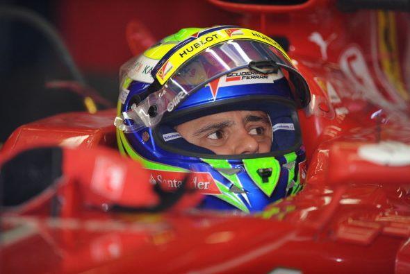 Felipe Massa buscaba calificar por delante de su compañero por tercera v...