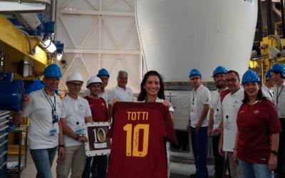 Camiseta de Totti al espacio