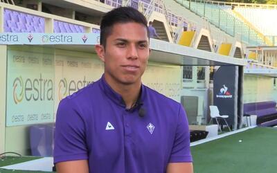 """Carlos Salcedo: """"Estoy muy agradecido con la Fiorentina por confiar en o..."""