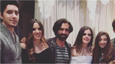 Alejandro Fernández y sus hijos