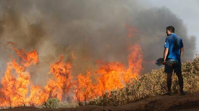En fotos: descomunal incendio en Chile obliga a desalojar de sus casas a 6,000 personas