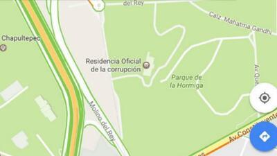"""Hackers cambian el nombre de la casa presidencial mexicana a """"residencia..."""