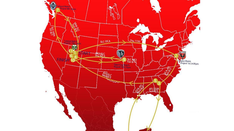 Viajes que deberá recorrer Real Salt Lake en 15 días
