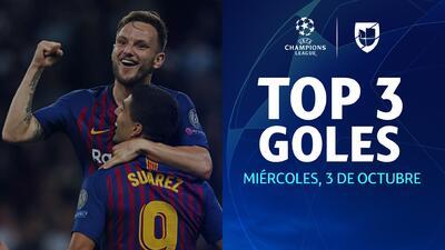 Top 3 mejores goles del día 2 de la Jornada 2 de la UEFA Champions League