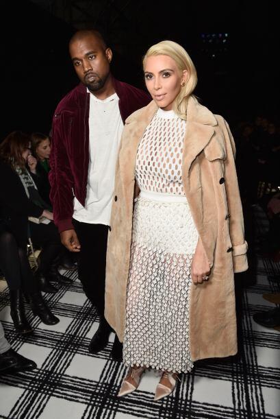 La pareja más controversial no podía faltar, Kim Kardashian y Kanye West.