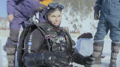 ¿Hockey bajo el agua? Montserrat se atrevió a jugar este deporte extremo en Rusia