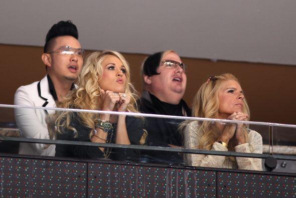 Los famosos también estuvieron presentes en los partidos...
