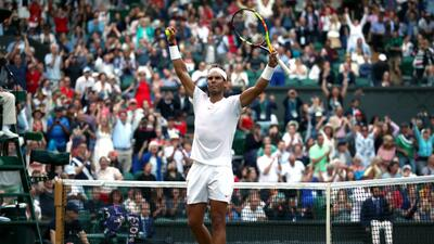 Rafael Nadal clasificó a las semifinales de Wimbledon tras eliminar a Del Potro