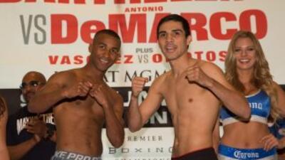 Rances Barthelemy y DeMarco después del pesaje (Foto  Lucas Noonan/PBC)