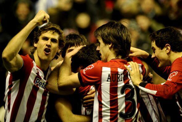 """El primero en anotar fue el Bilbao por intermedio de """"scar De Marcos."""
