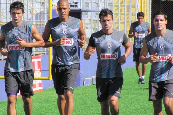 El Deportivo Saprissa tuvo una sesión de trabajo muy intensa a ca...