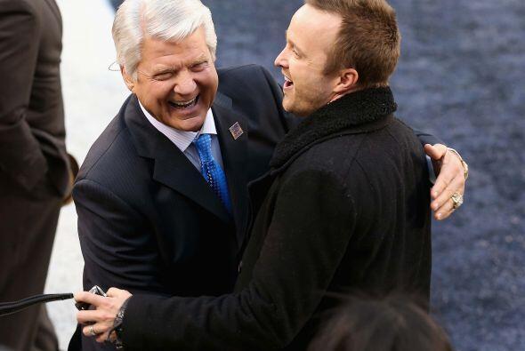 El ex entrenador de los Cowboys, Jimmy Johnson.