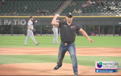 Gran lanzamiento del Primo Rafa en juego de los White Sox