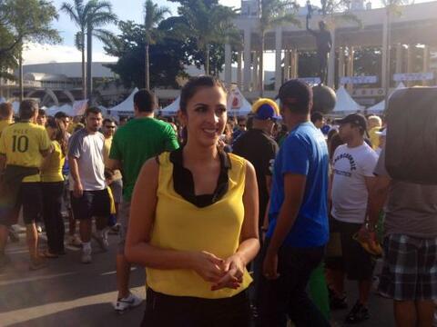 Maity Interiano se encuentra de visita en Brasil como parte del equipo d...