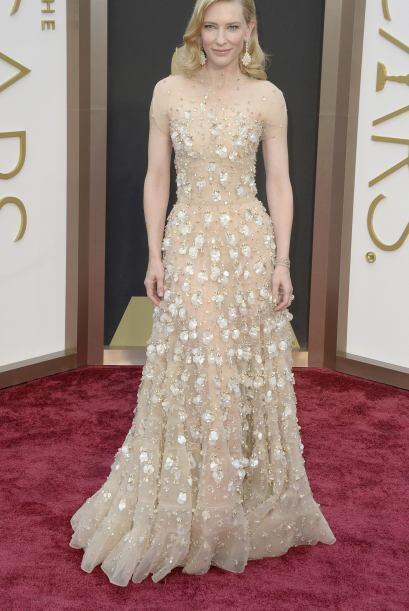 La actriz australiana Cate Blanchett llega a la 86 ª ceremonia anual de...