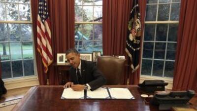 President Barack Obama en la Casa Blanca.