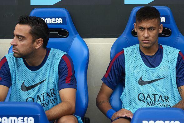 El Barcelona, con Xavi y Neymar en la banca, visitaba el campo del Villa...