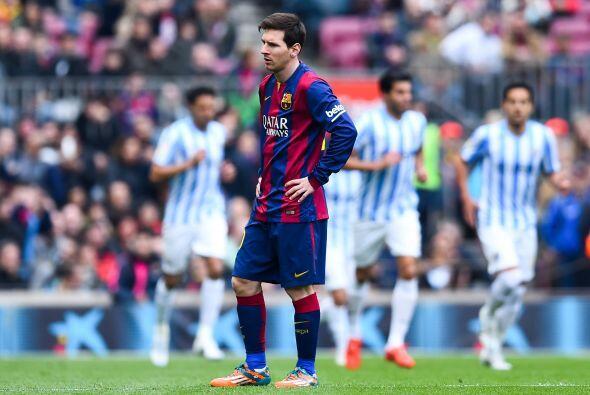 Y ahí empezaron las malas caras del Barcelona.