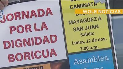 Empleados de la UPR continúan marcha en contra de la Junta de Supervisión Fiscal