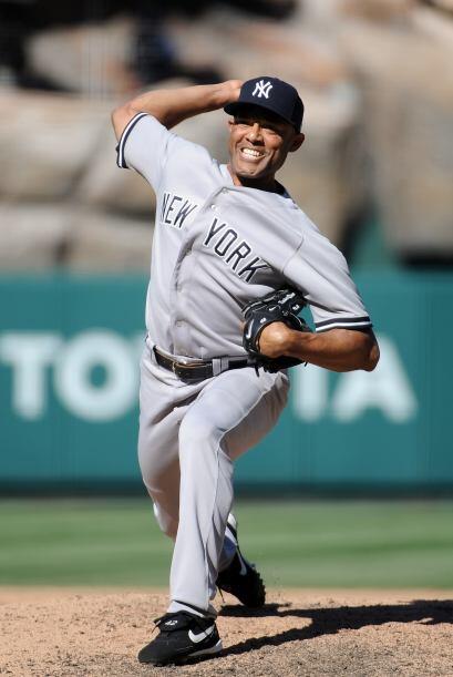 RP. Mariano Rivera. Yankees de Nueva York. Rivera ponchó a dos rivales,...