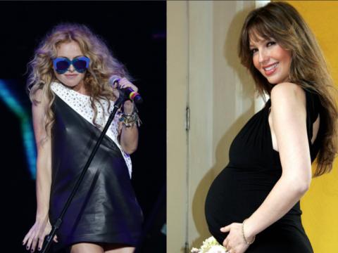 Thalía y Paulina Rubio embarazadas