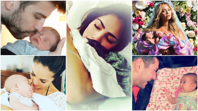 Estas fueron las primeras fotos de estos bebés famosos.
