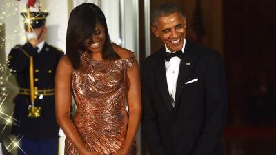 Así lució Michelle Obama en su última cena de Estado en la Casa Blanca