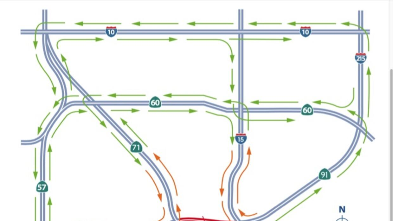 Las autoridades crearon un mapa con rutas de desviación.