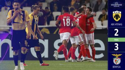 Benfica se impone al AEK de Atenas con dramaturgia y se lleva tres puntos de Grecia
