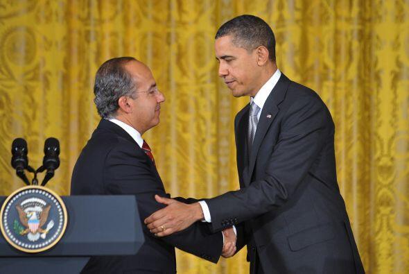 Los presidentes Felipe Calderón y Barack Obama sostuvieron una ru...
