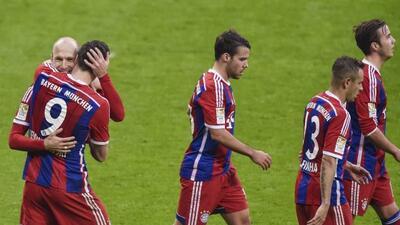 Robben, Lewandowski y Götze anotaron en la victoria en Múnich.
