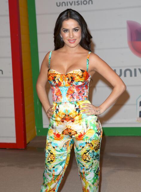 Danna García en la alfombra de la décima edición de Premios Juventud.