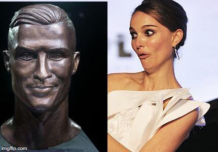 El nuevo busto de Cristiano no se salvó de los divertidos memes 27ea9t.jpg